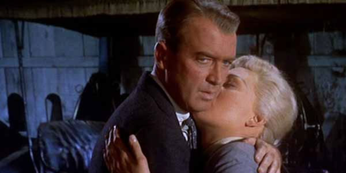 Jimmy Stewart and Kim Novak in 'Vertigo'