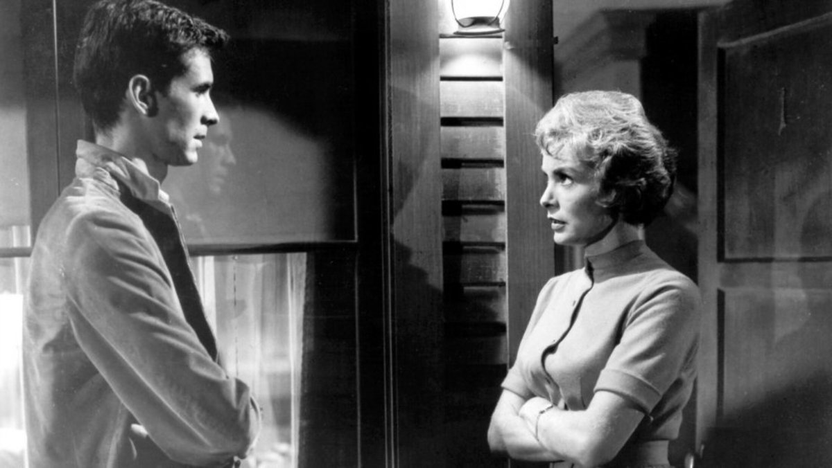 Anthony Perkins and Janet Leigh in 'Psycho'