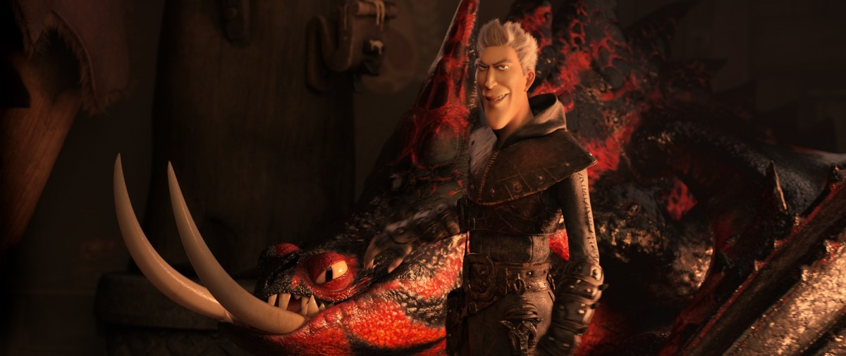 Grimmel the Grisly with a deathgripper dragon.