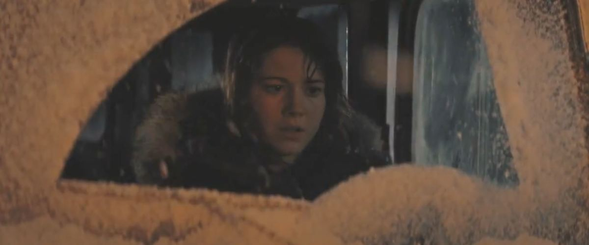 I guess she dies in the freezing cold. I don't know. I don't care.