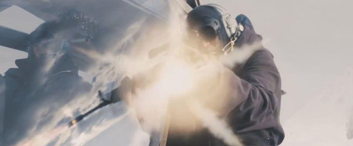 That CG gun flare...