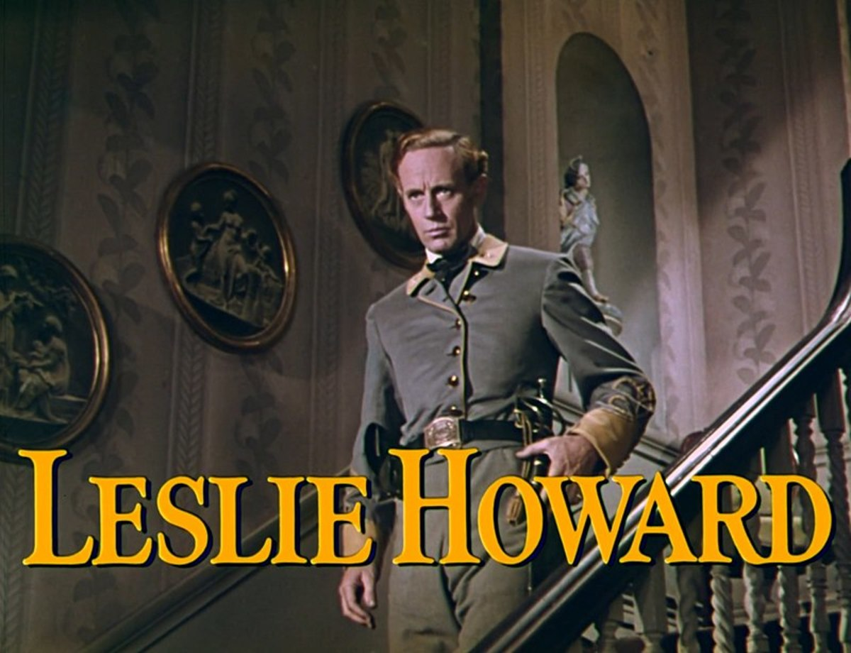 Trailer screenshot of Leslie Howard from the trailer for the film Gone with the Wind.
