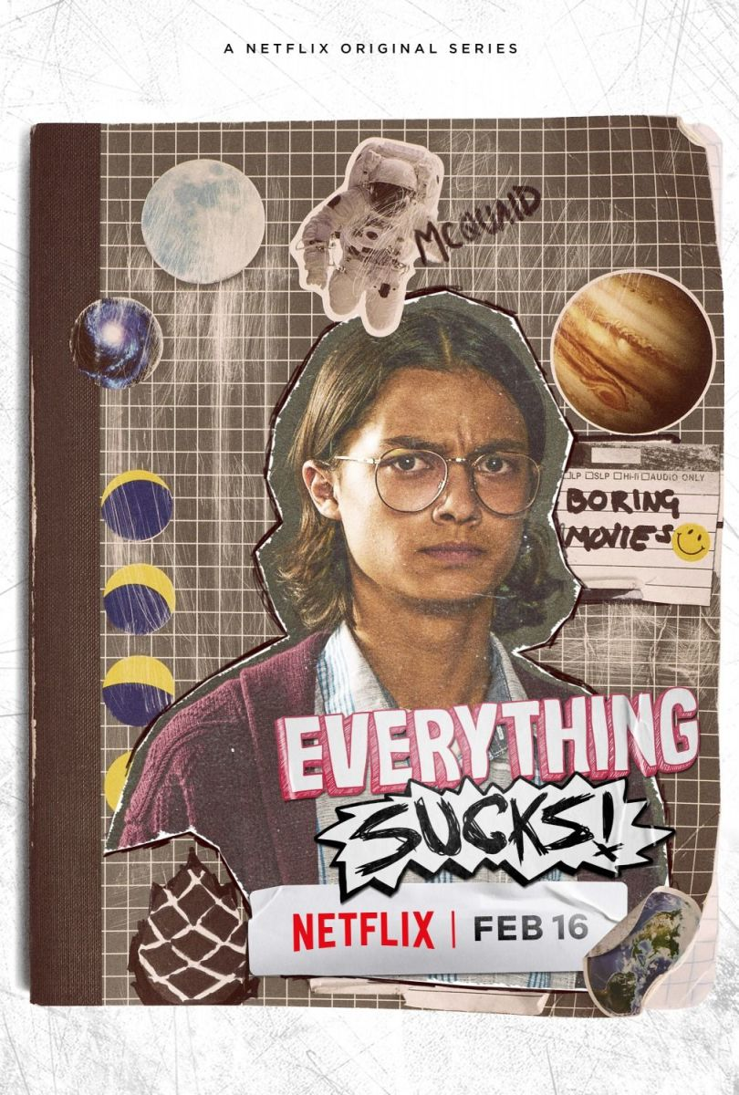 "Netflix release poster for ""Everything Sucks!"""