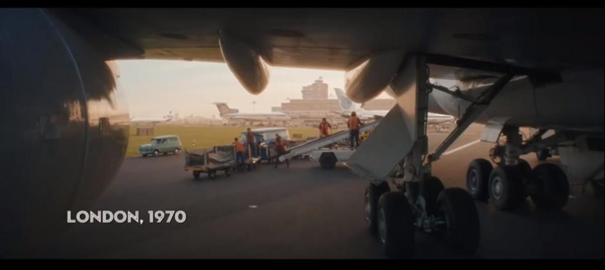 Wide-shot of Heathrow Airport