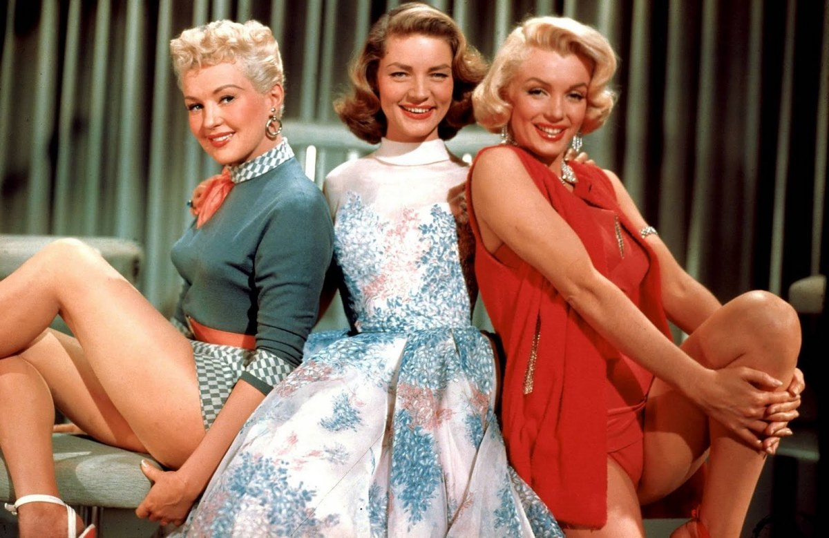 Betty Grable, Lauren Bacall & Marilyn Monroe in How To Marry a Millionaire.