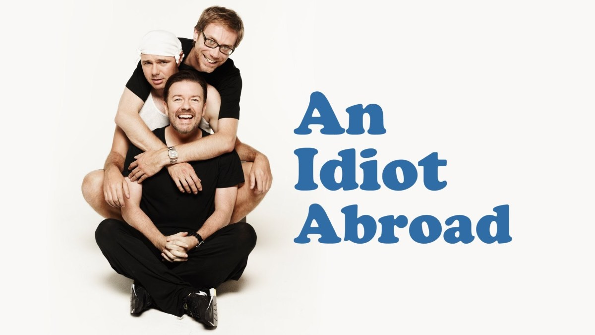 An Idiot Abroad pairs Karl Pilkington, Stephen Merchant and Ricky Gervais up again, this time for a comedic travel series.