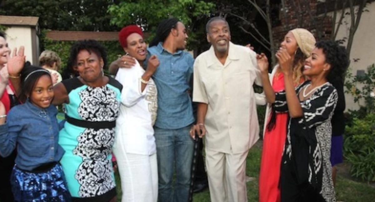 Meschach Taylor with his Wife and Kids on His 67th Birthday