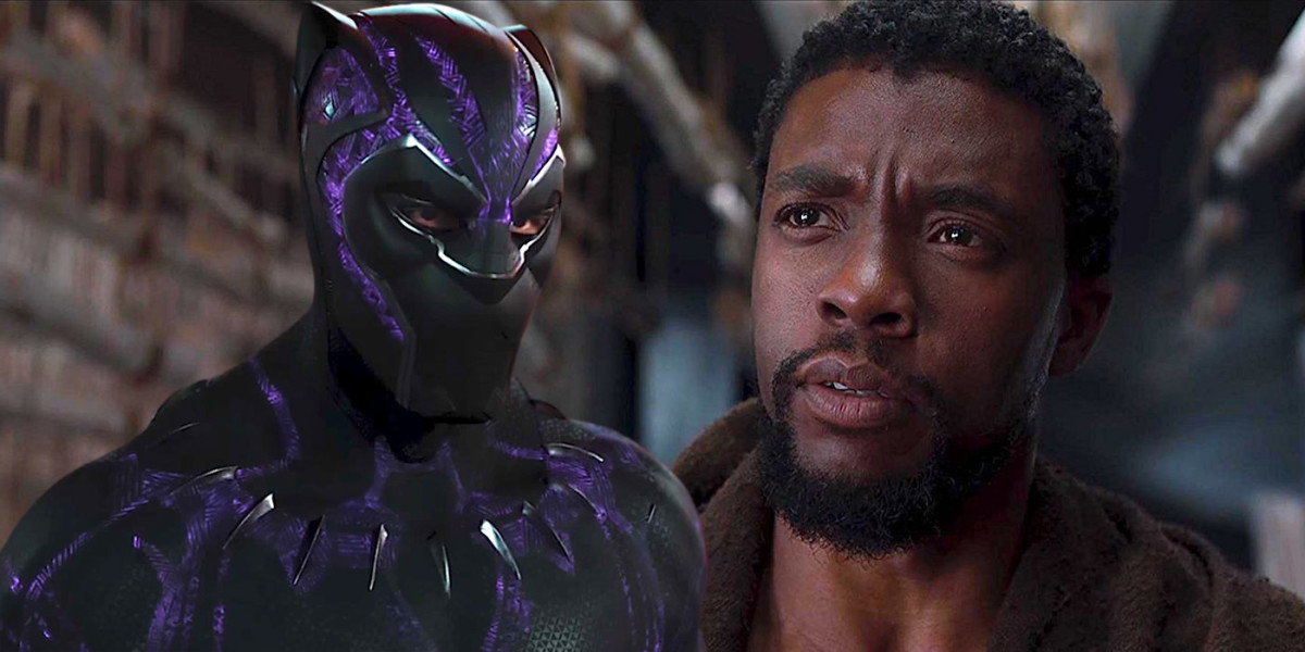 Chadwick Boseman as the titular character in Black Panther.