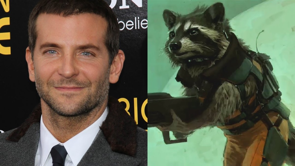 Bradley Cooper as Rocket Raccoon.