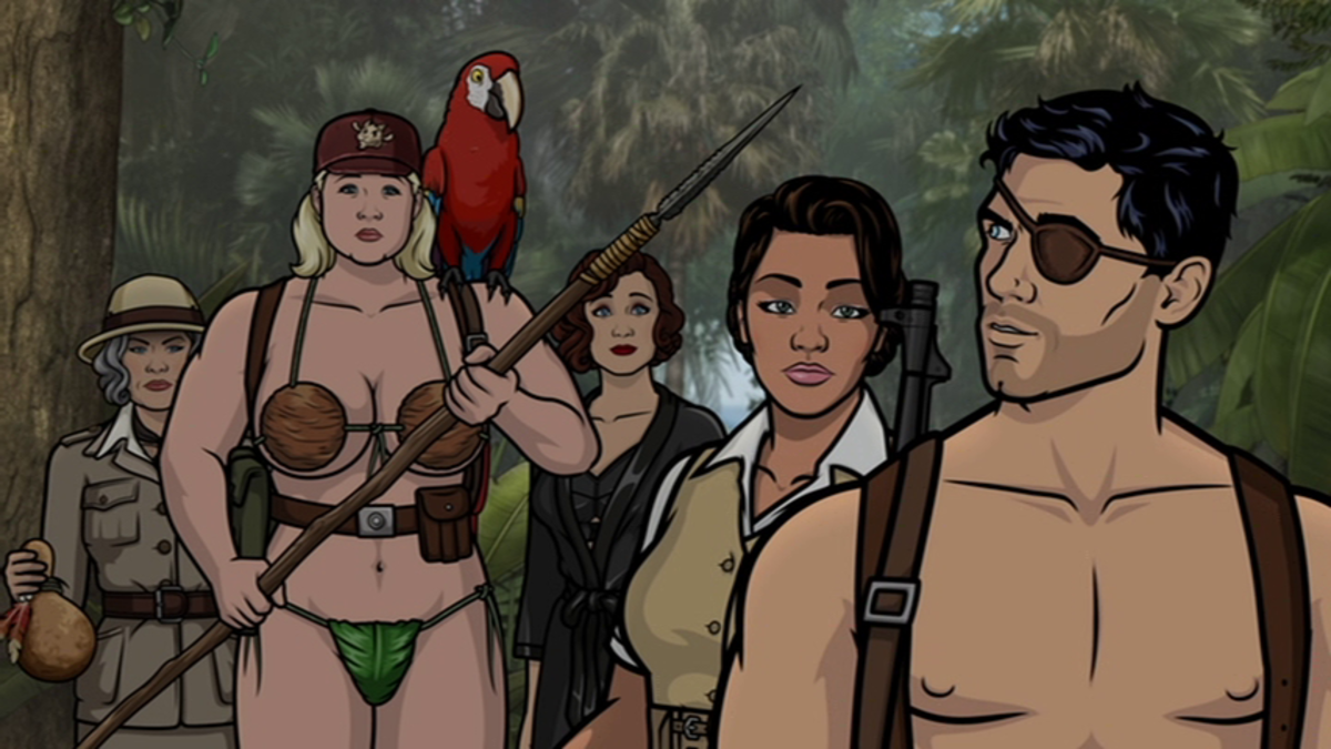 From left to right: Malory, Pam, Crackers, Charlotte, Princess Lanaluakalani, and Archer.
