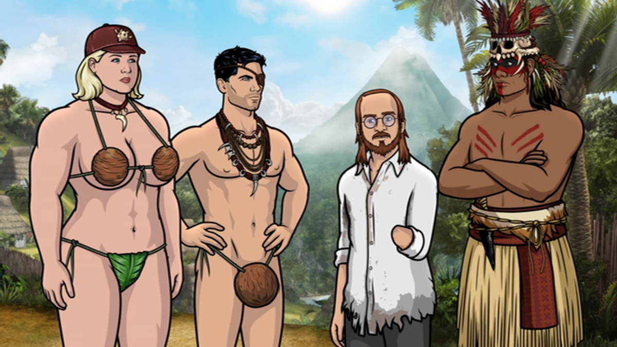 David Cross returns to Archer as Noah, but he's missing a hand thanks to cannibals on Danger Island.