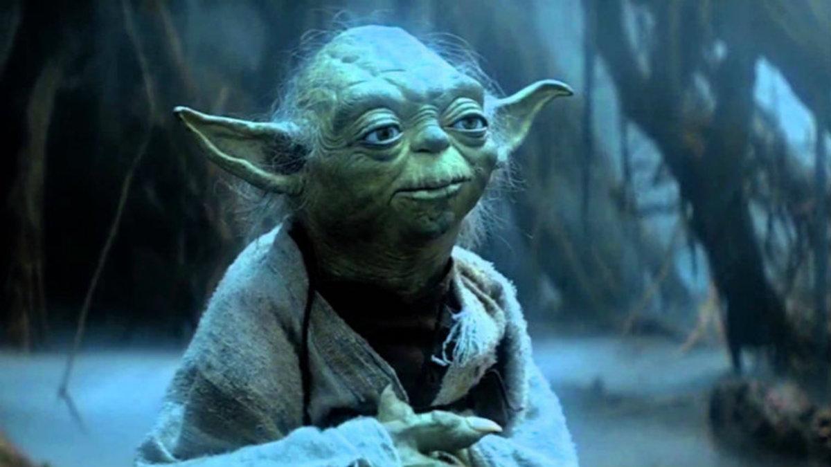 Yoda in exile on Dagobah