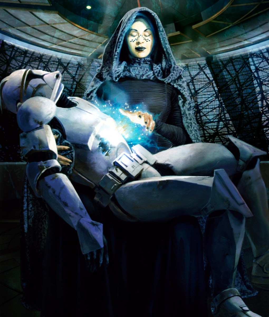 Barriss Offee using Force Revitalize