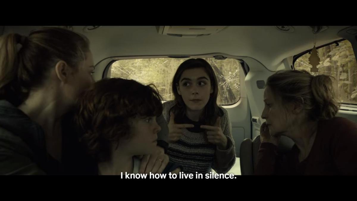 Ally (Kiernan Shipka) delivering on-the-nose exposition.