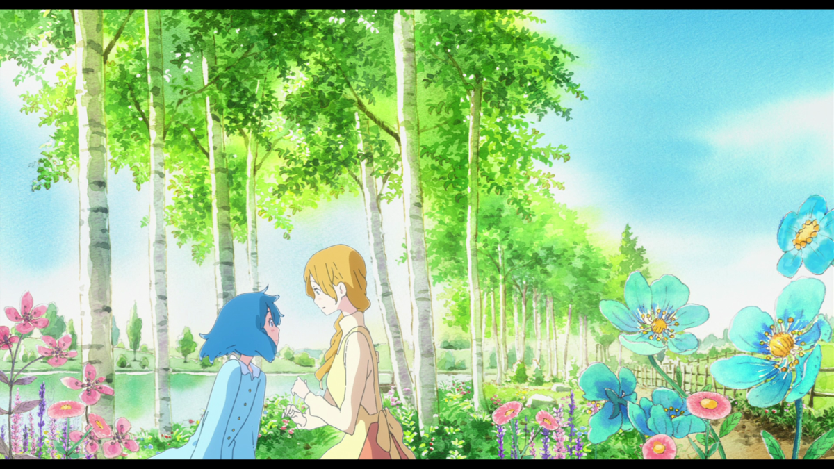 In the titular fairy tale, lonely bakery worker Liz encounters a mysterious blue girl.