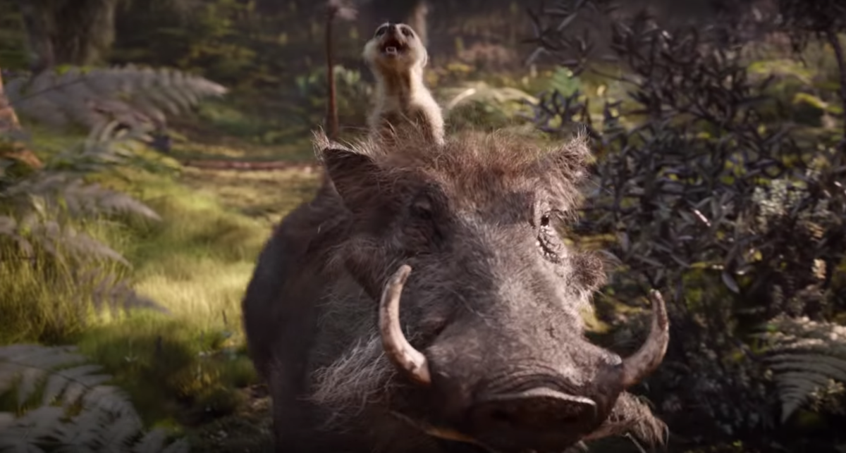 A still from 'The Lion King' featuring Timon and Pumbaa