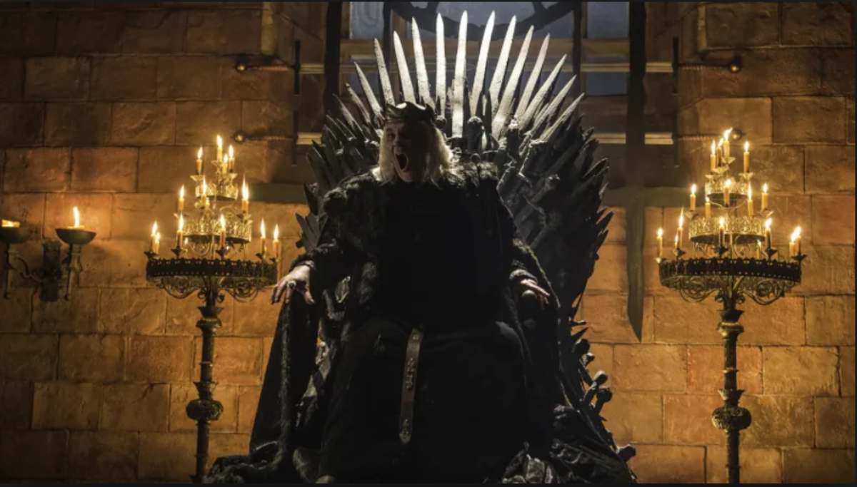From HBO.  The Iron Throne's history is surrounded in death, back-stabbing, and even madness.  Rarely does it seem anything around it is stable.