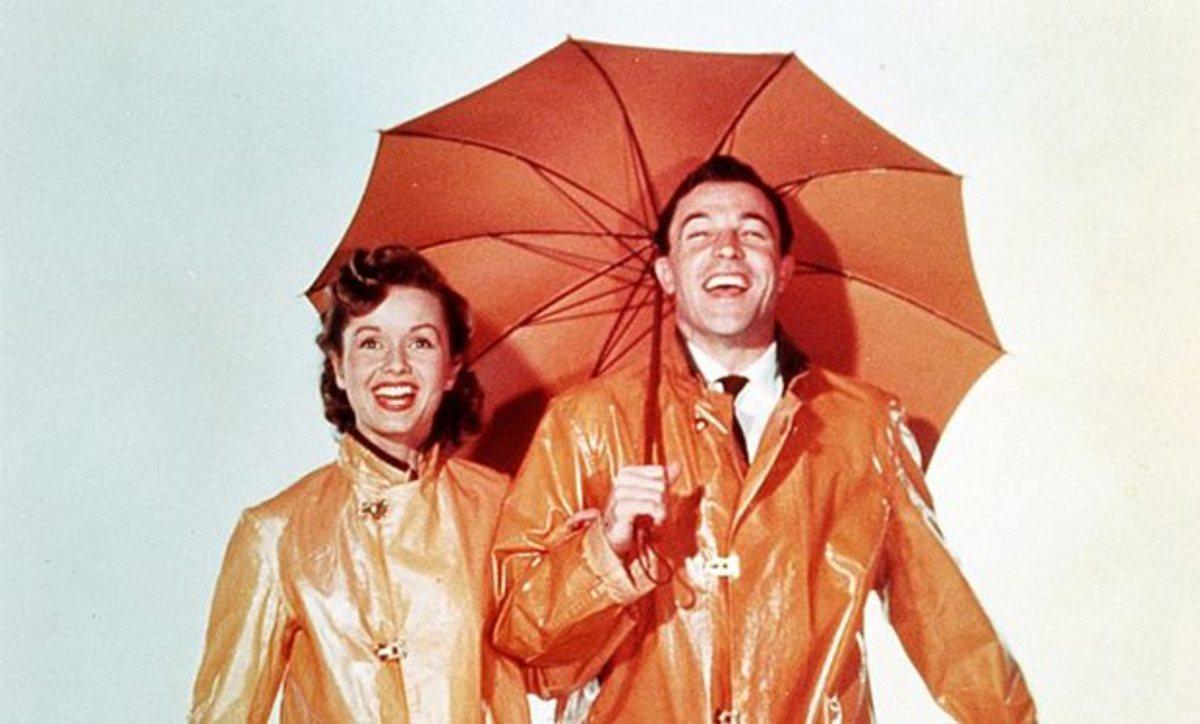 Debbie Reynolds & Gene Kelly in Singin' in the Rain.