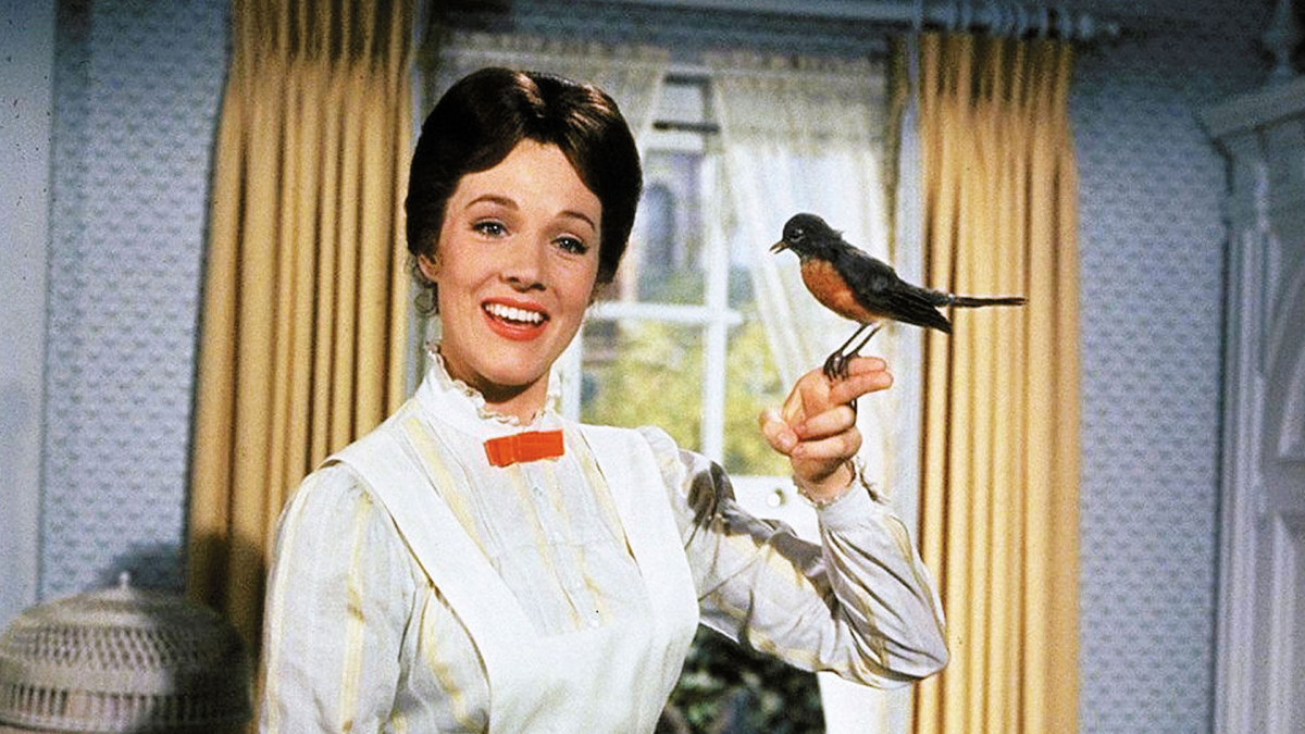 Julie Andrews as the titular character in Mary Poppins.