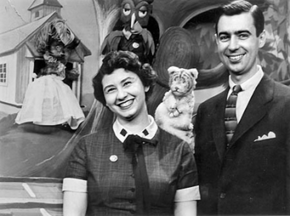 Josie Carey and Fred Rogers