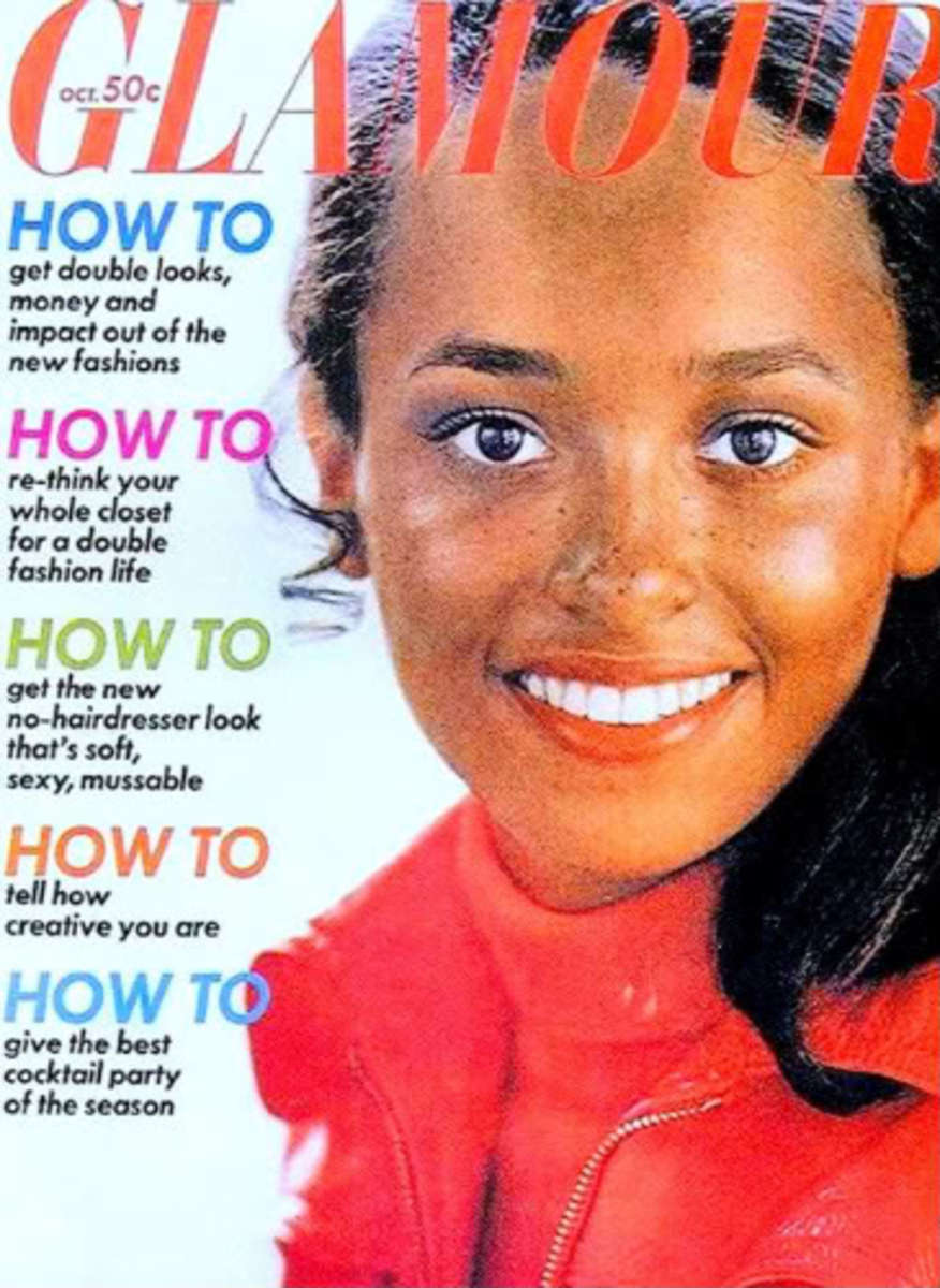 Daphne Maxwell Reid (Aunt Viv) on the cover of Glamour magazine.