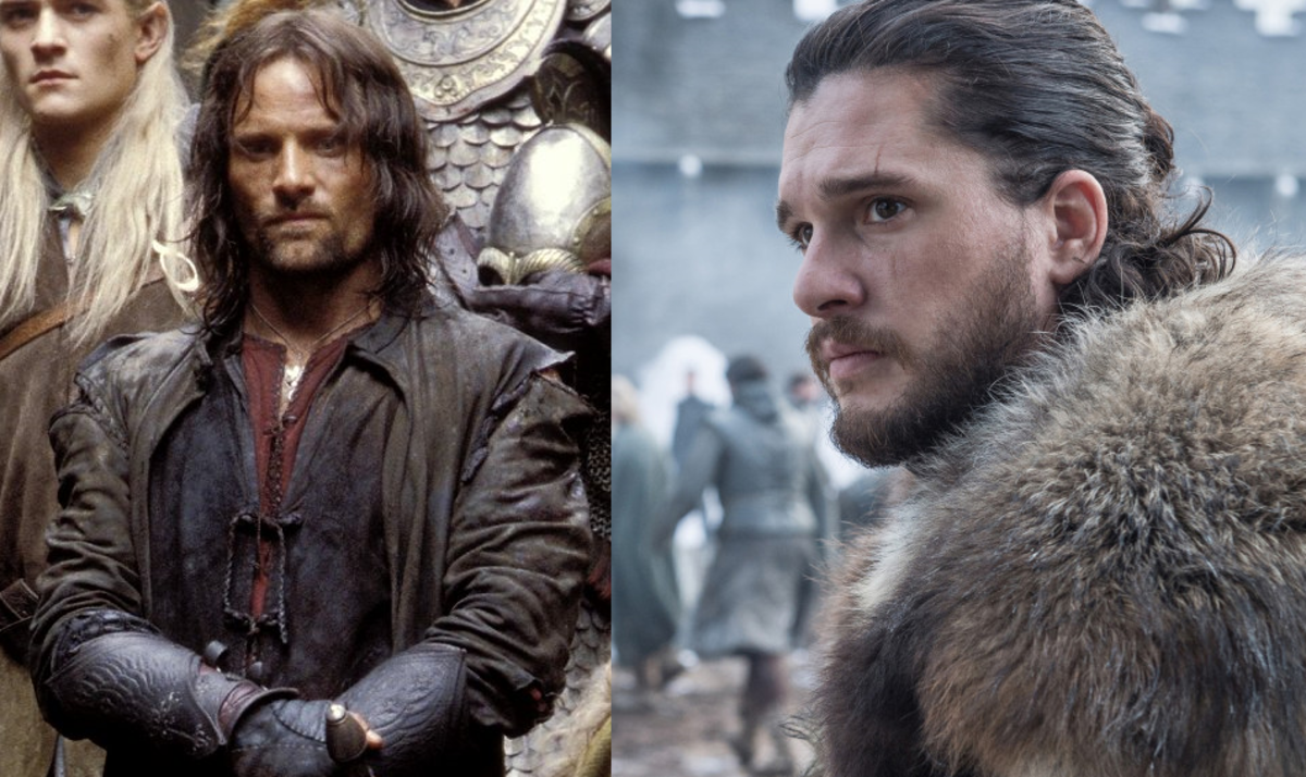Courtesy of HBO and New Line Cinema.  Aragorn and Jon were fault lines to the profile subjects because their true identities threatened their self-perceptions.