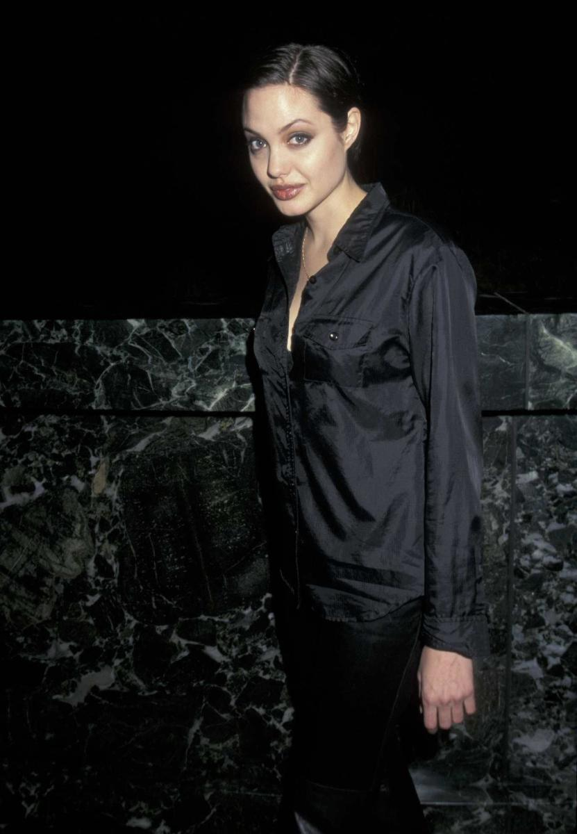 Angelina Jolie at the premiere of 1998's Gia.