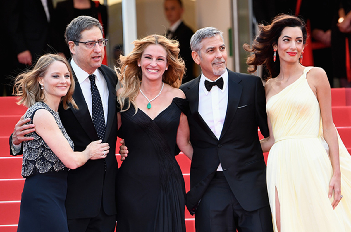 George Clooney at the premiere of 2016's Money Ball.