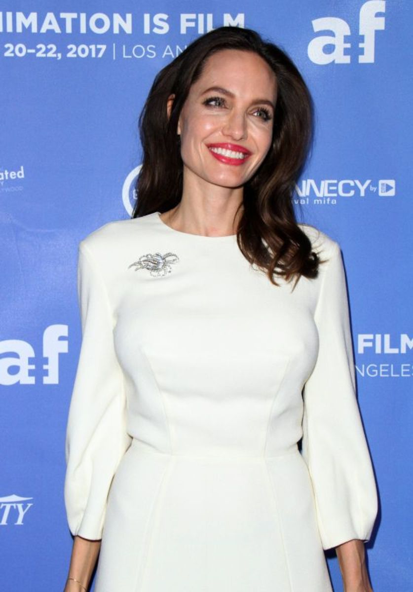 Jolie at the premiere of 2017's The Breadwinner.