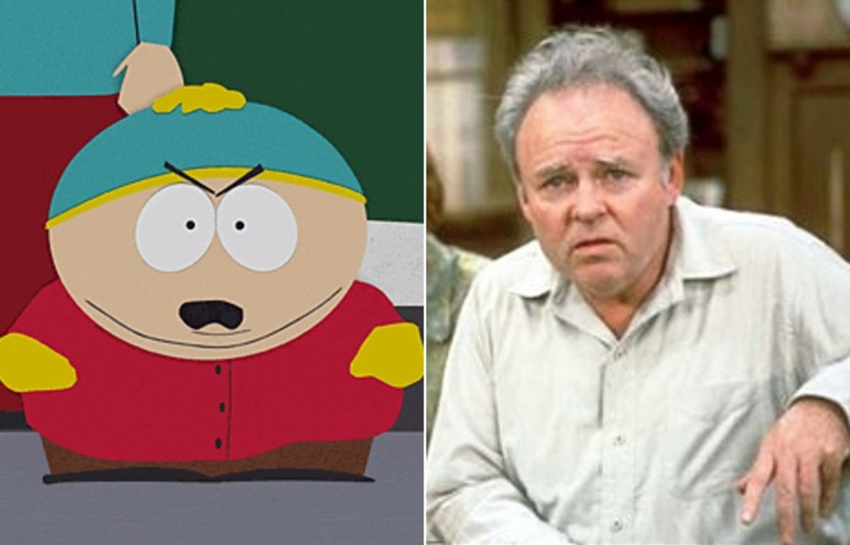 South Park's Cartman & Archie Bunker.