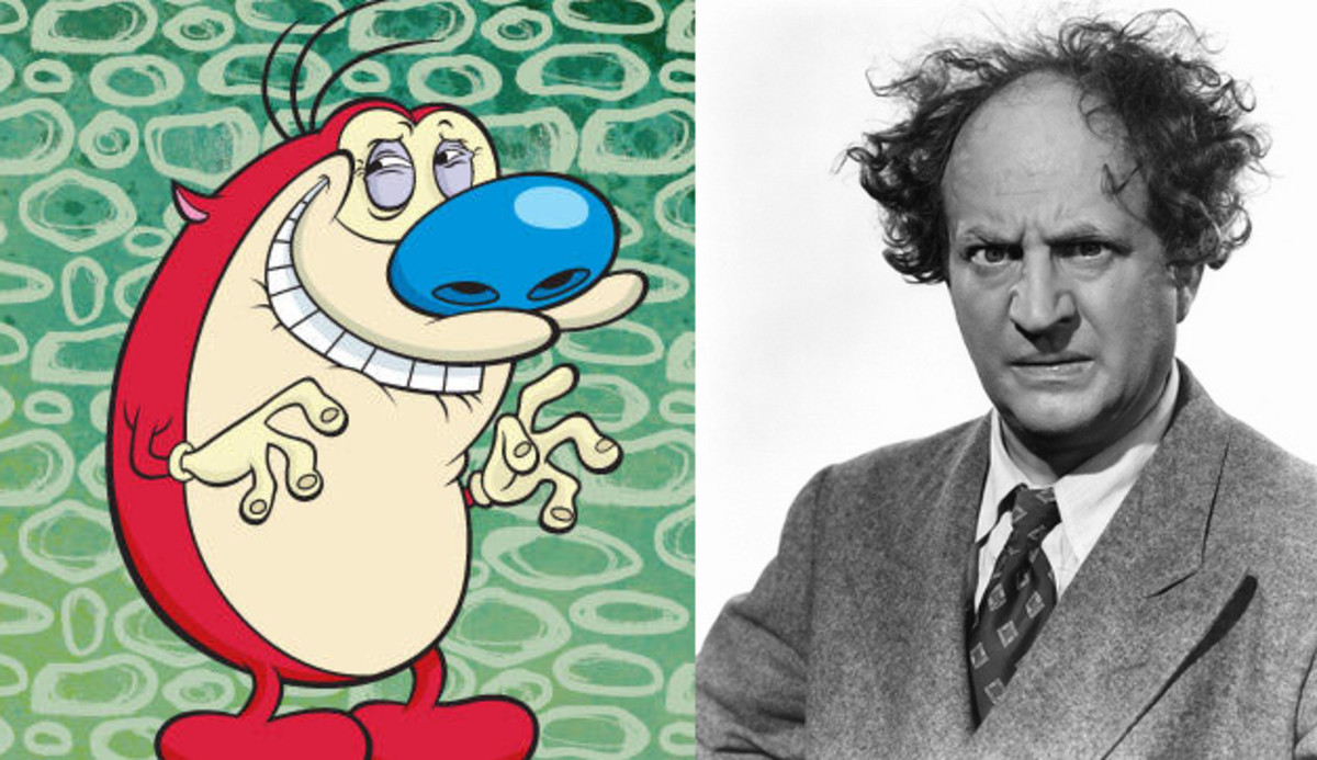 Stimpy & Larry Fine of The Three Stooges.