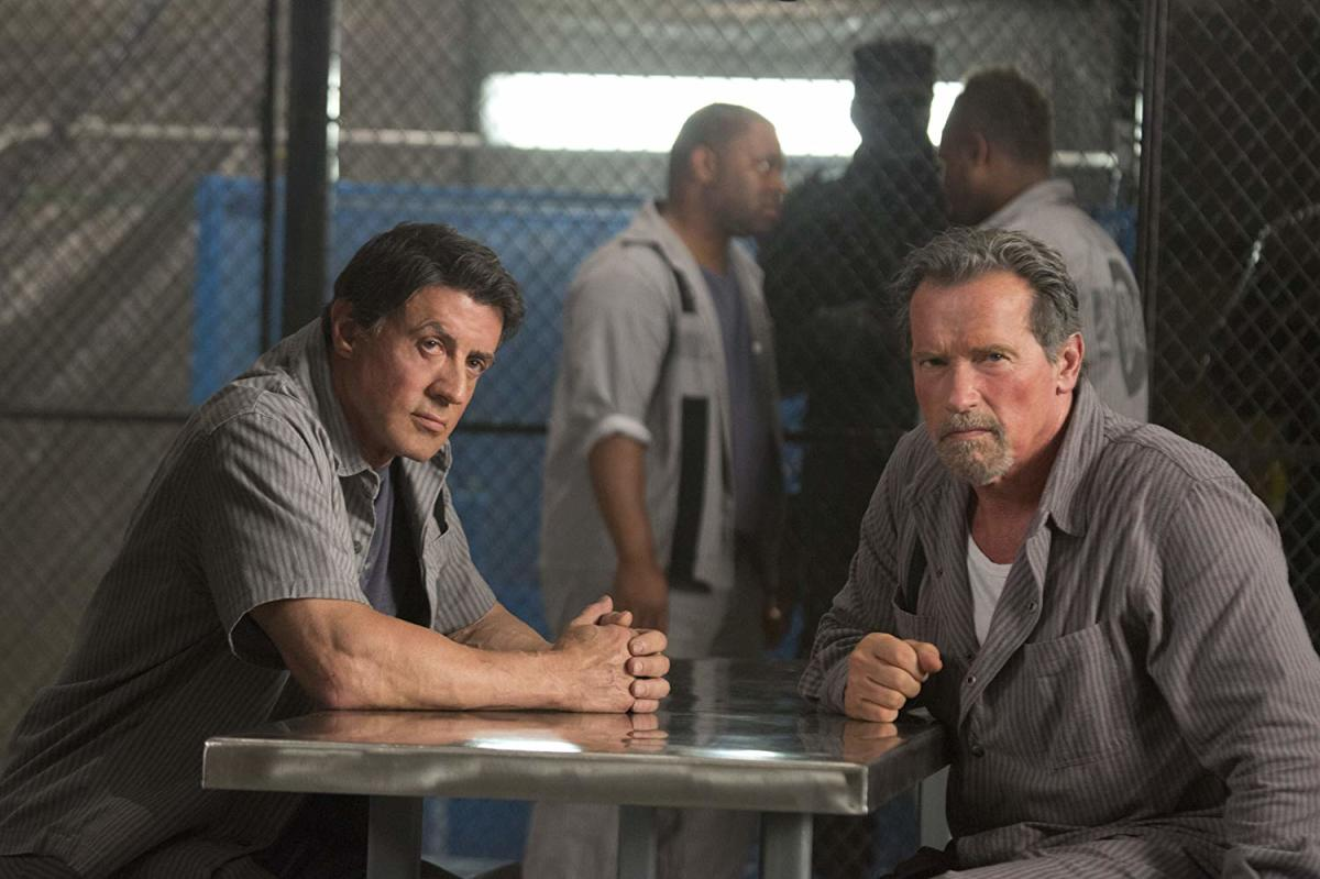 Stallone. Schwarzenegger. The prison from Face/Off. Sold.