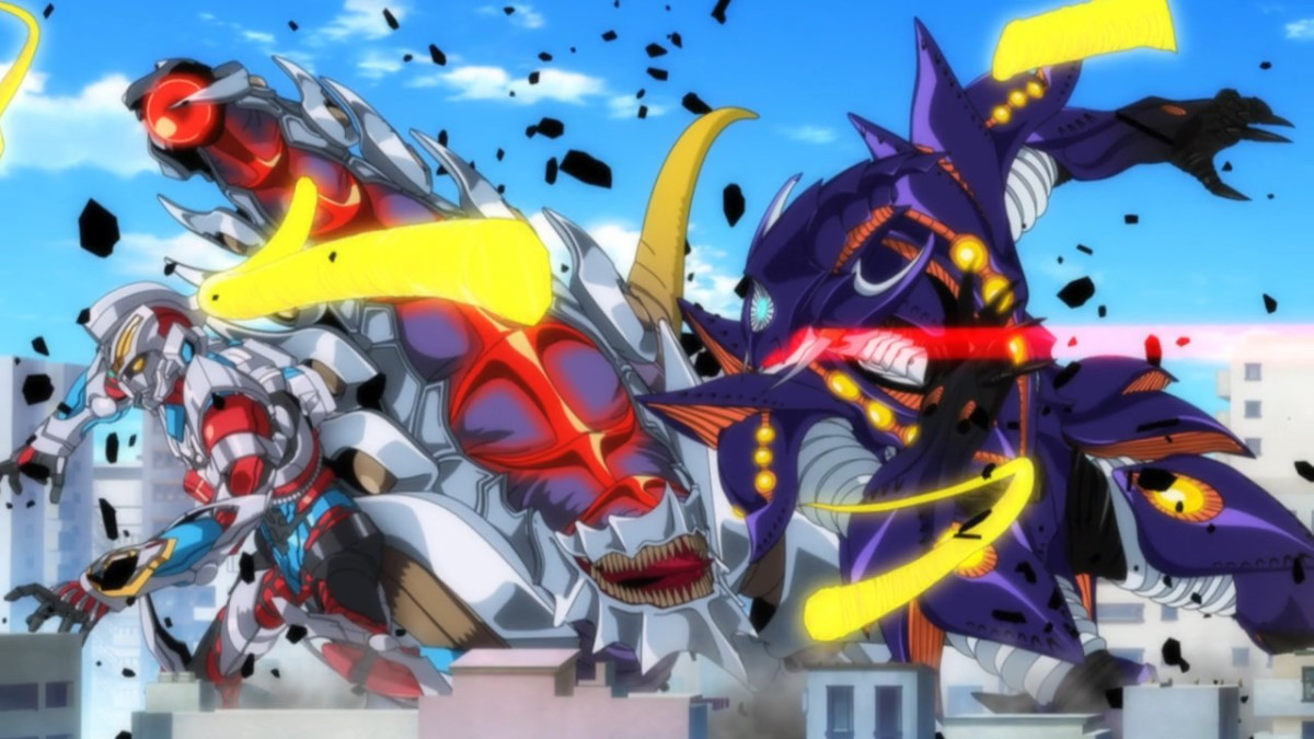 Hating the idea of letting another kaiju defeat Gridman, Anti crushes the fight.