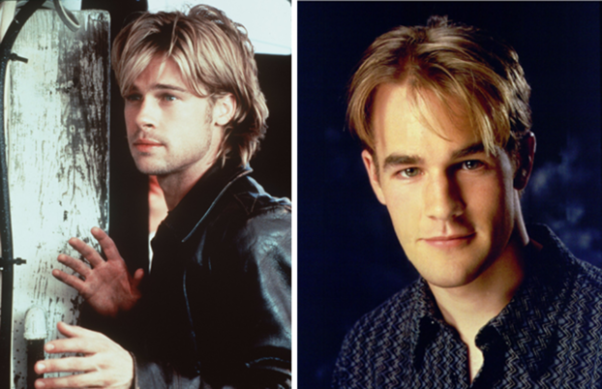 Brad Pitt in The Devil's Own & James Van Der Beek as Dawson Leery.