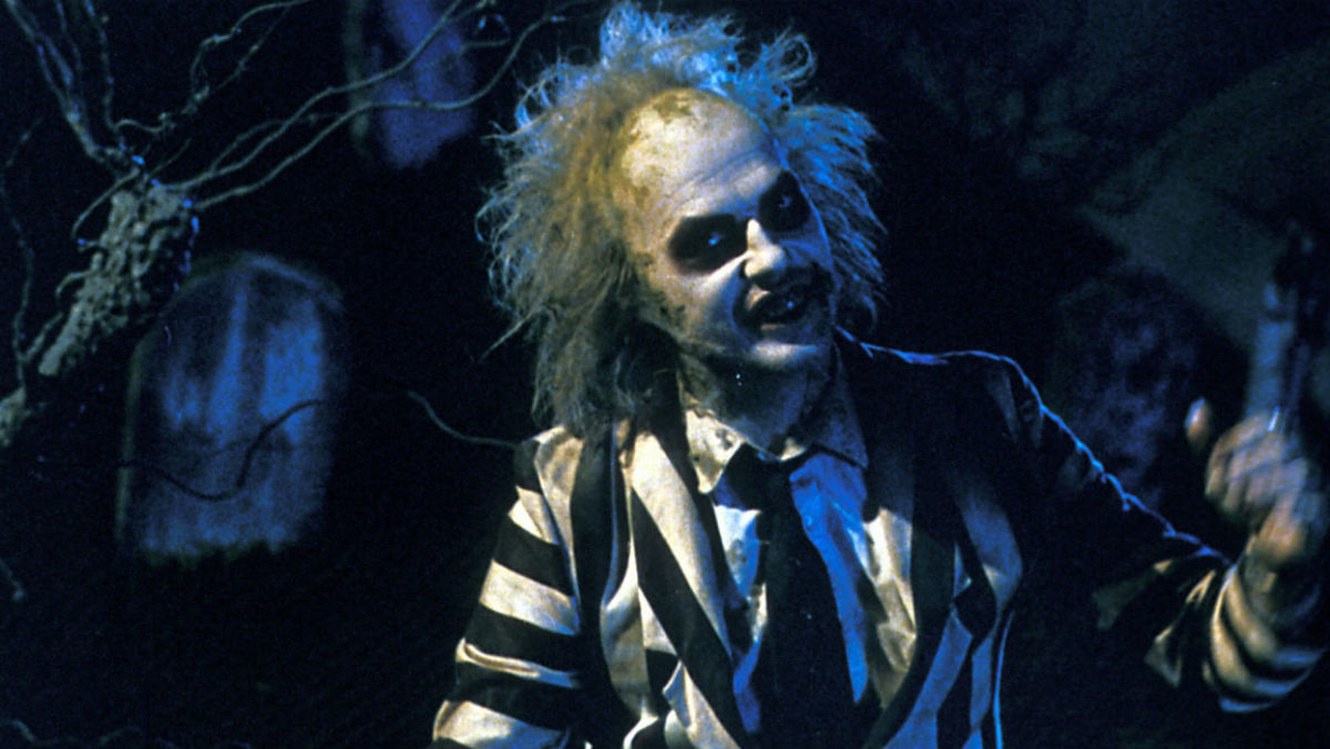 Michael Keaton as the titular character in Beetlejuice.