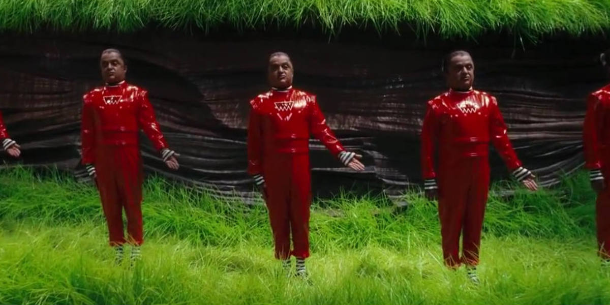 Deep Roy as an Oompa Loompa in Charlie and the Chocolate Factory.
