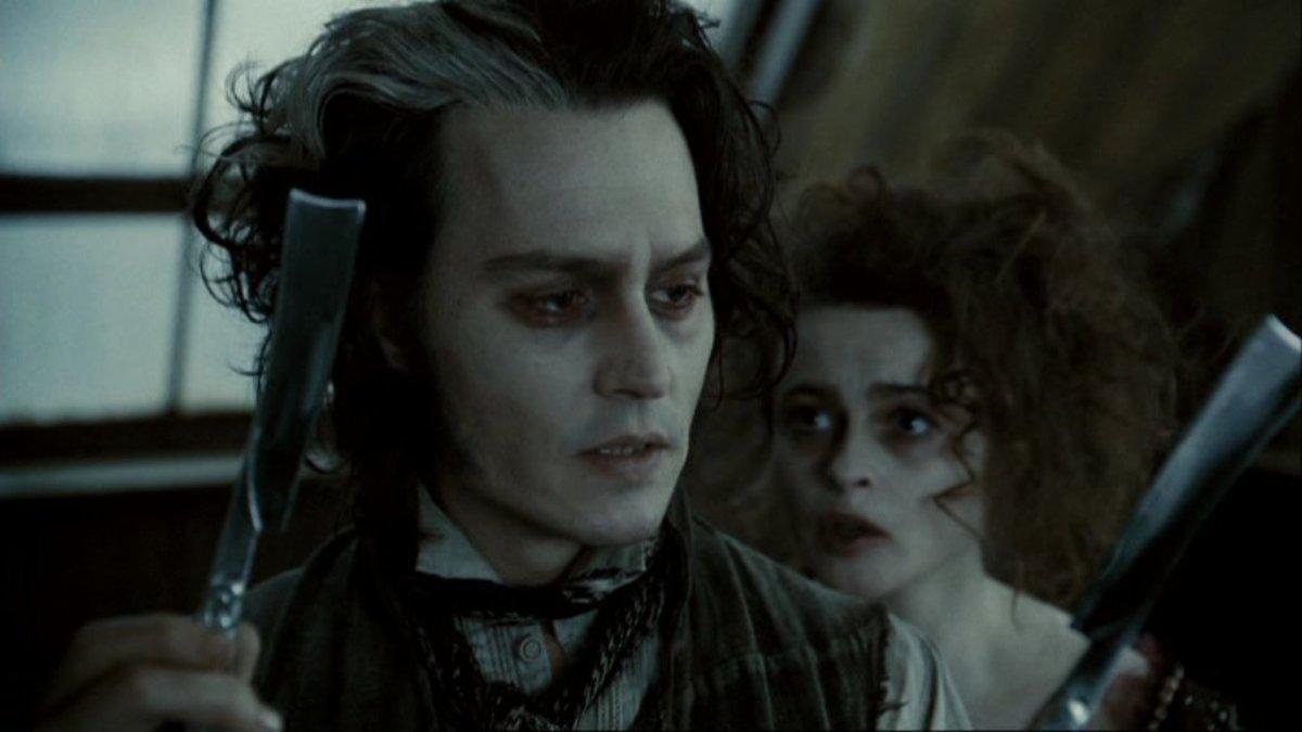 Johnny Depp & Helena Bonham Carter in Sweeney Todd: The Demon Barber of Fleet Street.