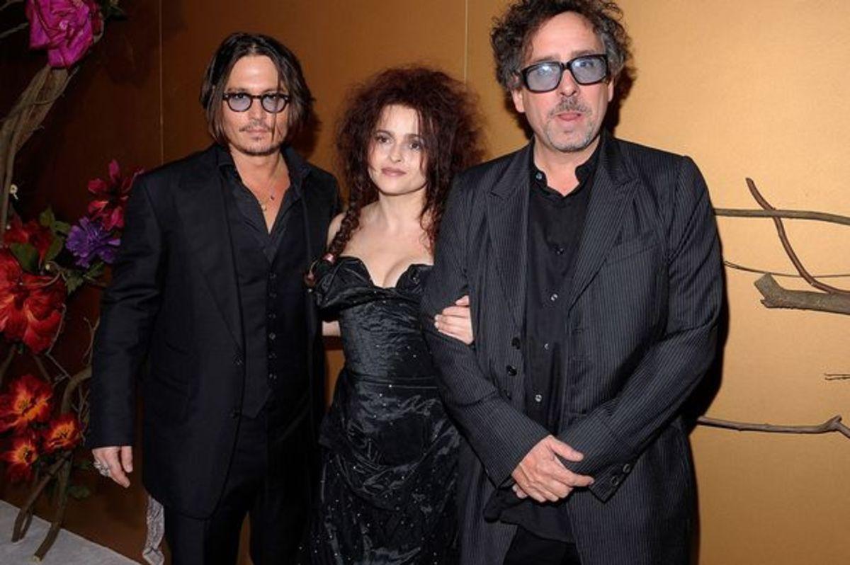 Johnny Depp, Helena Bonham Carter and Tim Burton.