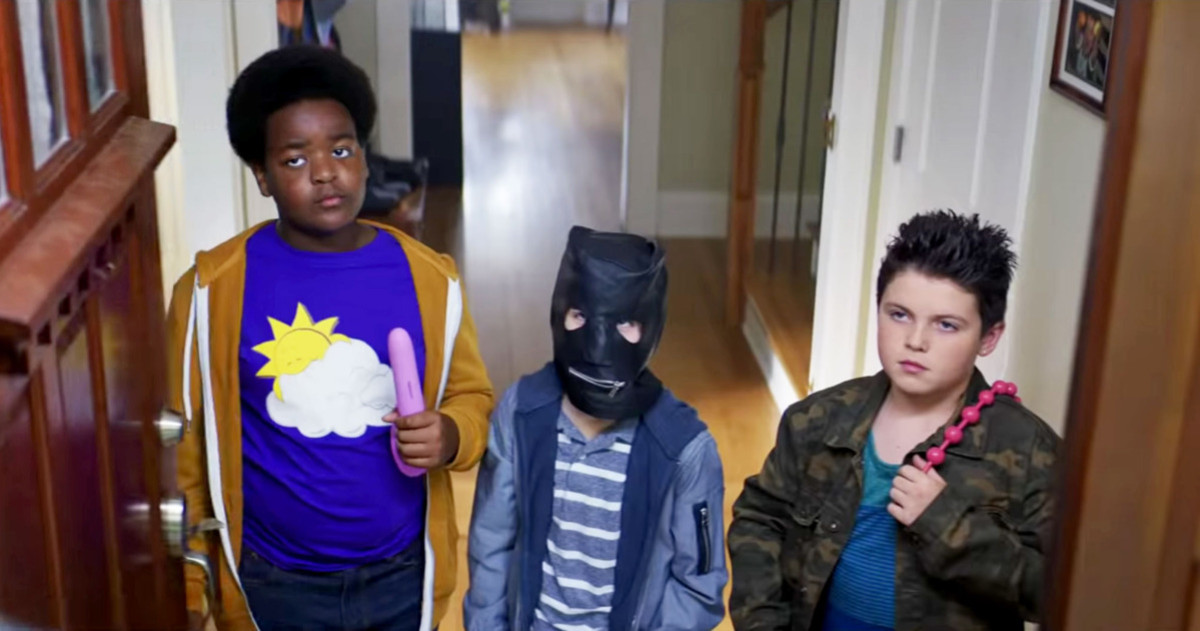 Keith L. Williams, Jacob Tremblay, and Brady Noon as Lucas, Max, and Thor.