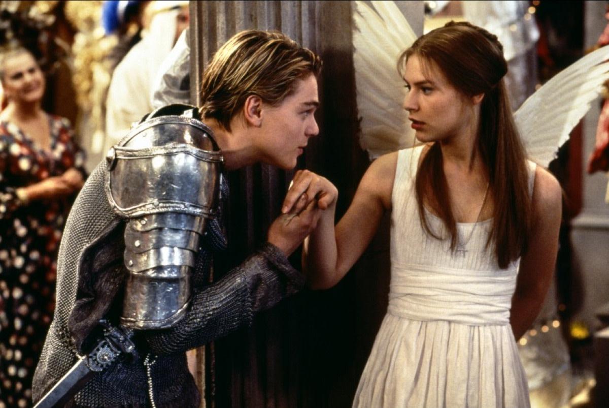 Leonardo DiCaprio & Claire Danes in Romeo + Juliet.