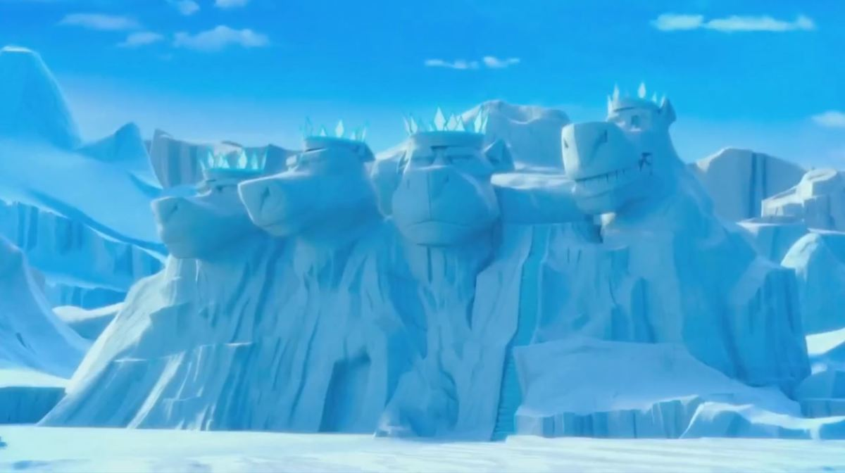 The ice mountain actually looks as though it holds some real size and weight to it as opposed to the last movie where it looked like a toy.