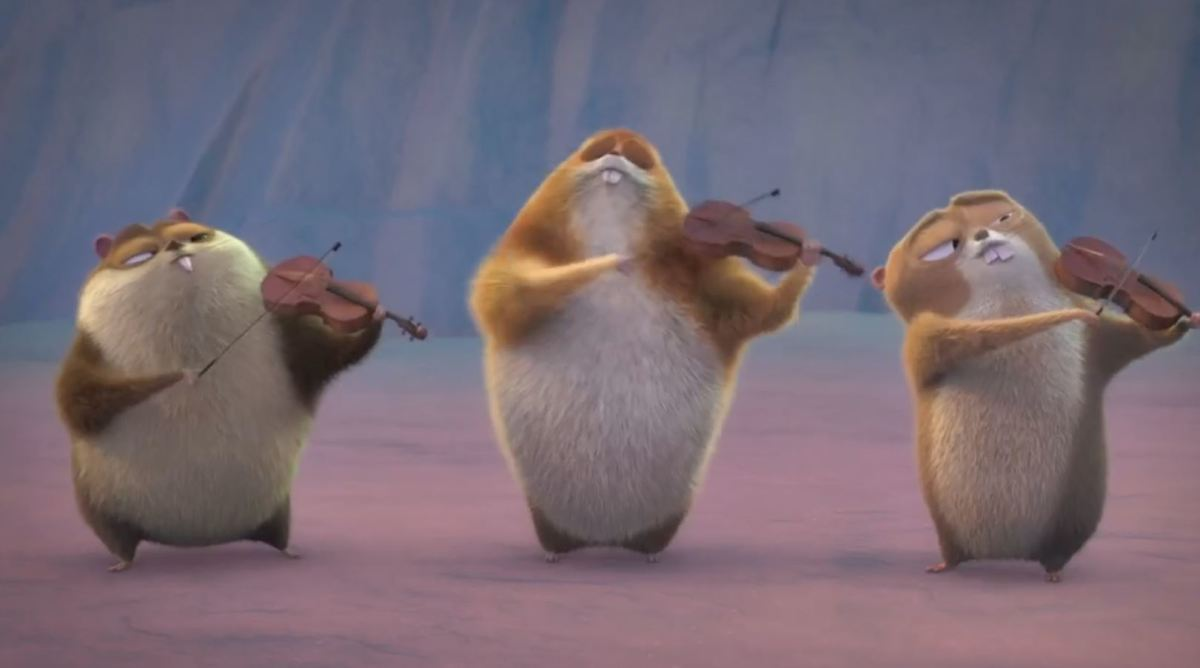 Violins... ha...