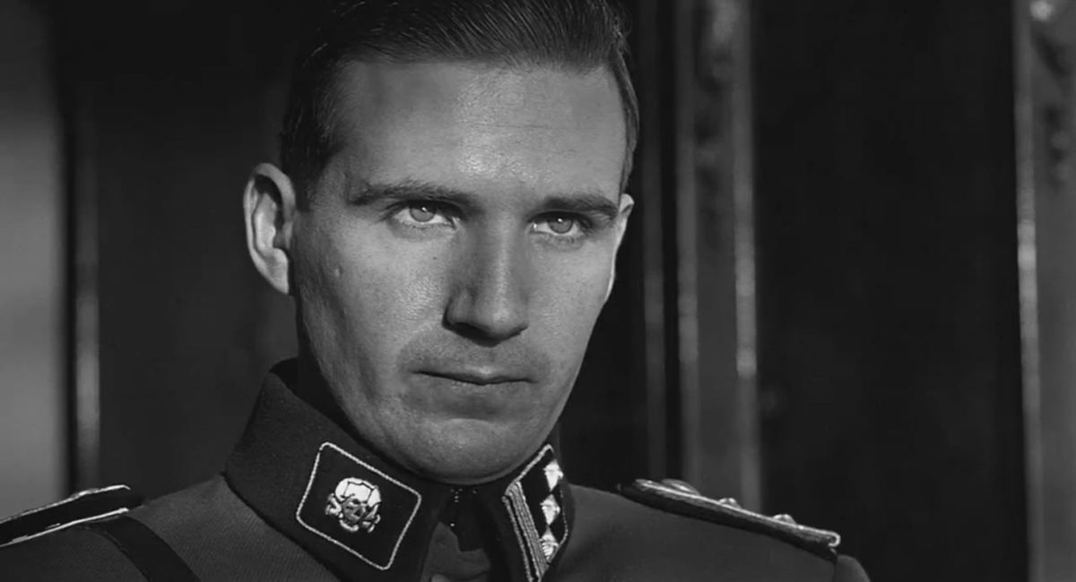 Ralph Fiennes as Amon Goeth in Schindler's List.