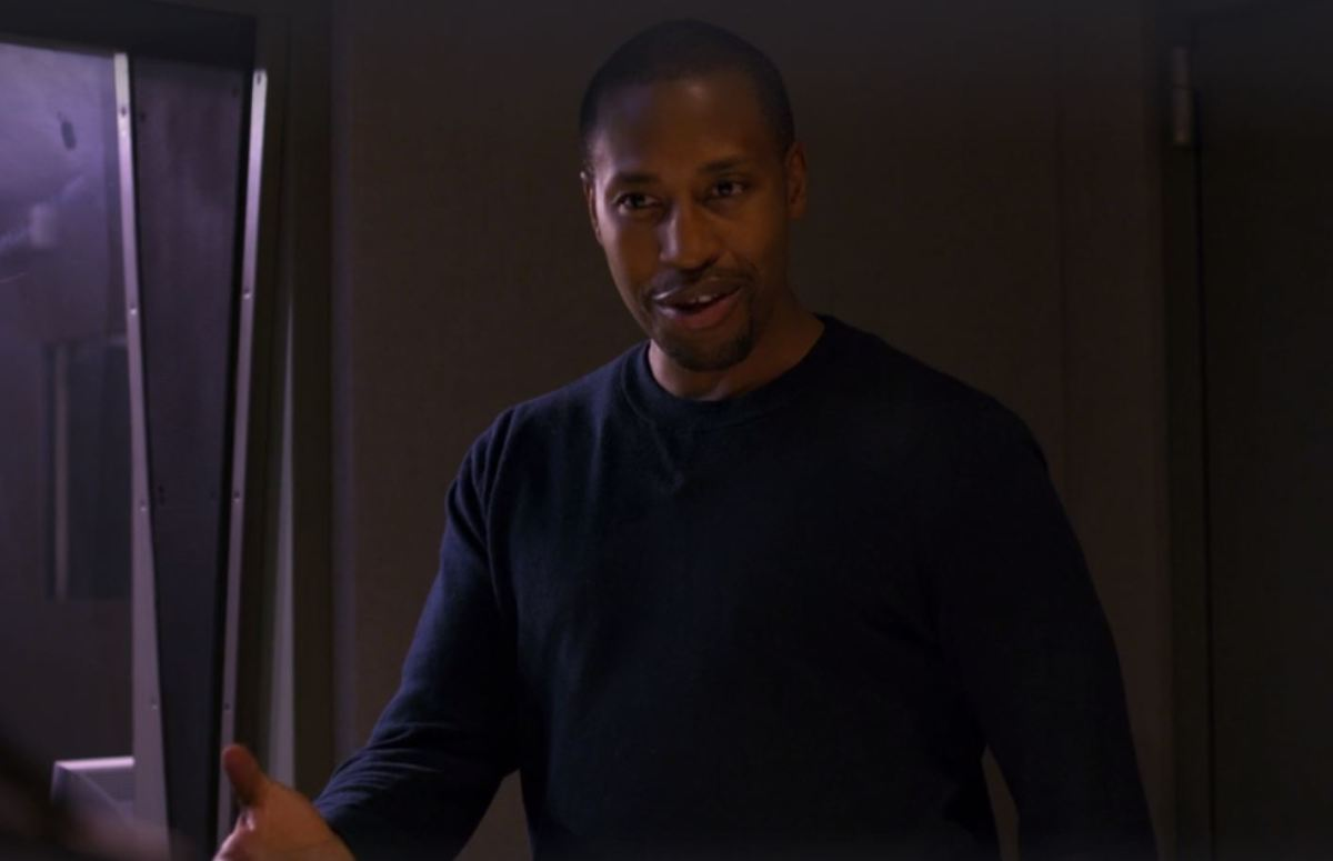 """Real quote from movie: """"I don't know what I'm more impressed by; you as a black woman or your therapy techniques!"""""""