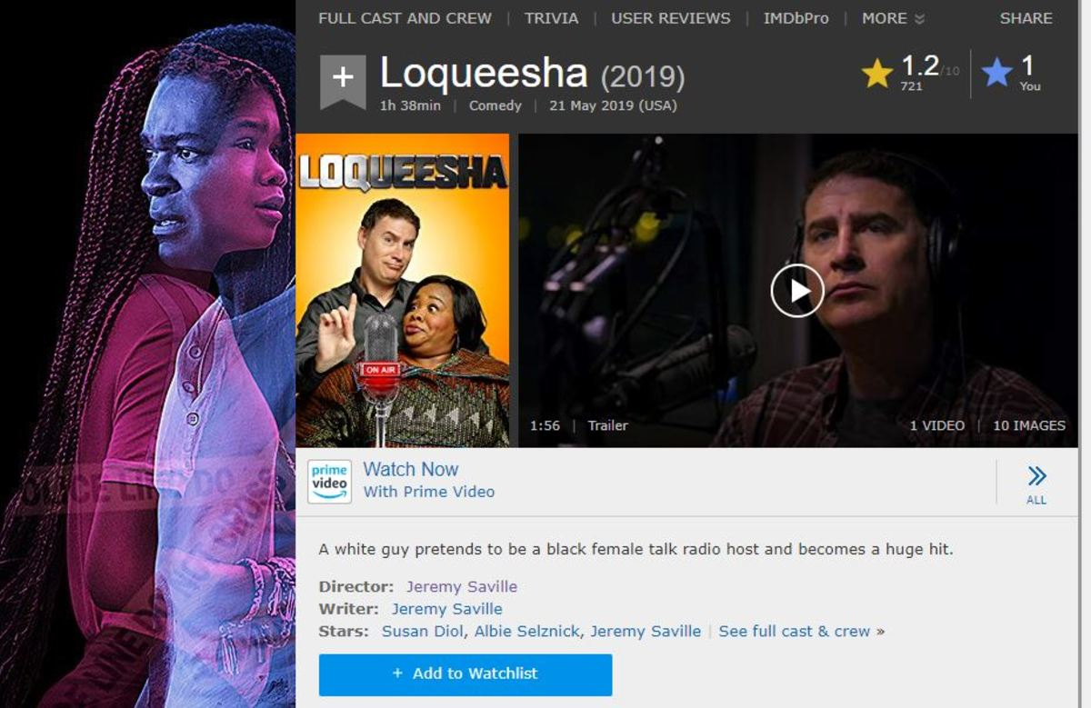 Even the advertisements for other movies look ashamed to be plastered next to this horrendous thing called 'Loqueesha'.