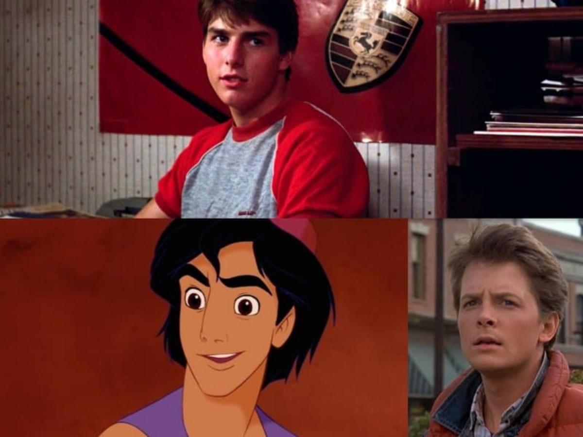Aladdin's Inspirations: Tom Cruise & Michael J. Fox.