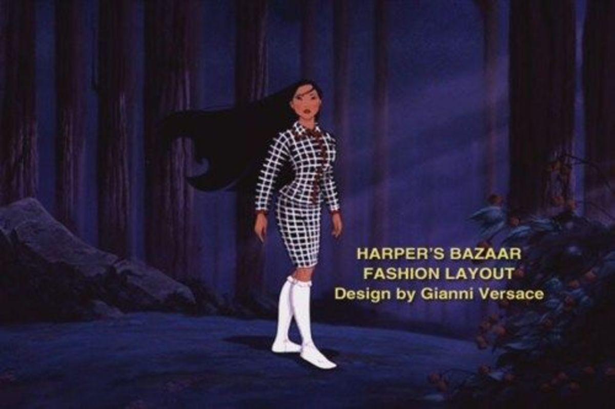 Harper's Bazaar Pocahontas spread.