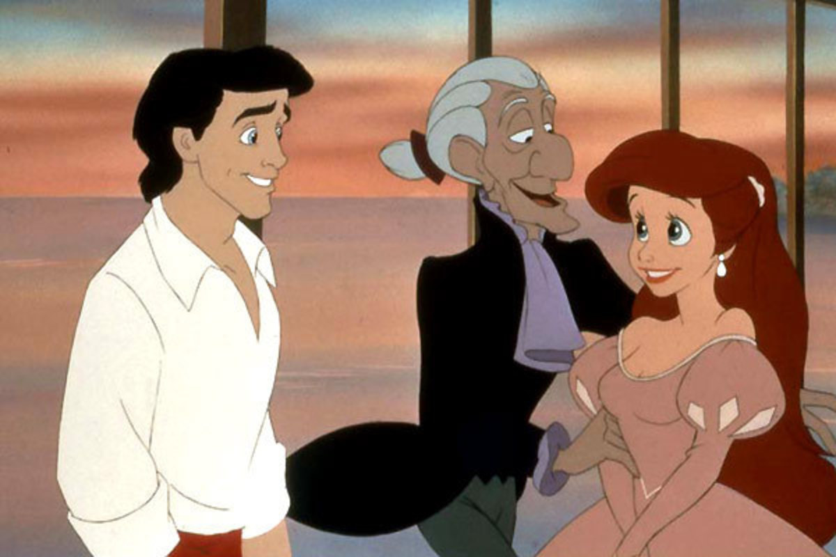 Eric and Ariel in The Little Mermaid.