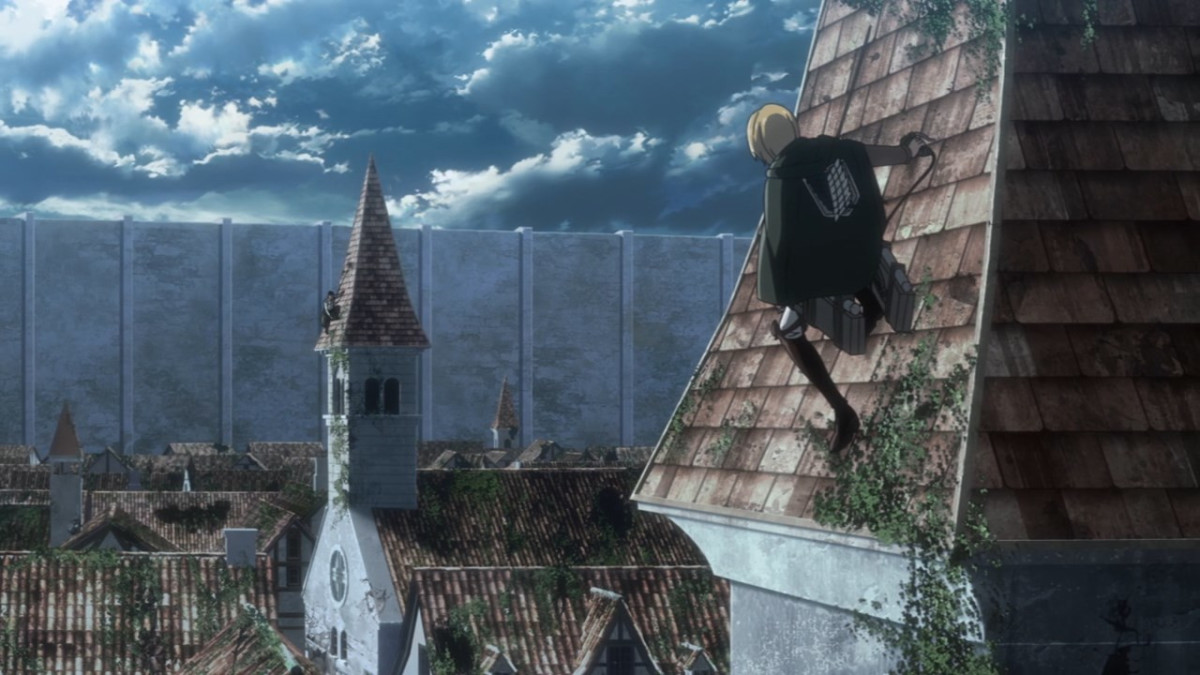 Believing there is still chance to stop the bloodshed, Armin attempts to reason with his former comrade Bertholdt.