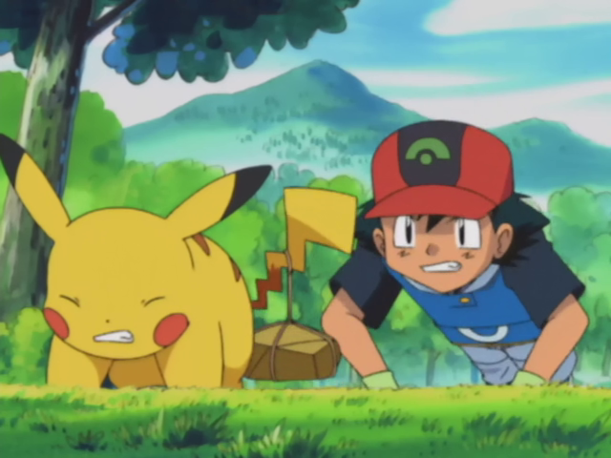 Ash and Pikachu training